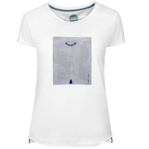 Blue Teardrop Women's T-shirt - Lefugu