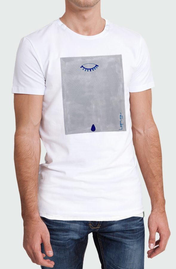 Blue Teardrop Men's T-shirt image model front
