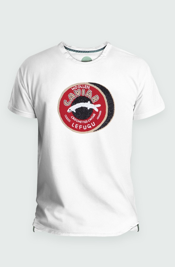 Camiseta Caviar Hombre Detalle