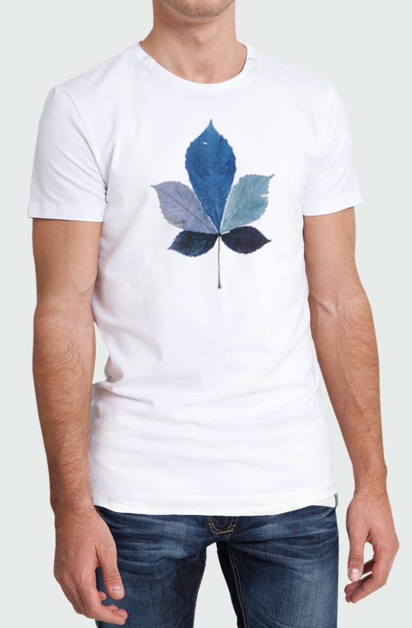Camiseta Coulored Leaf Hombre Modelo