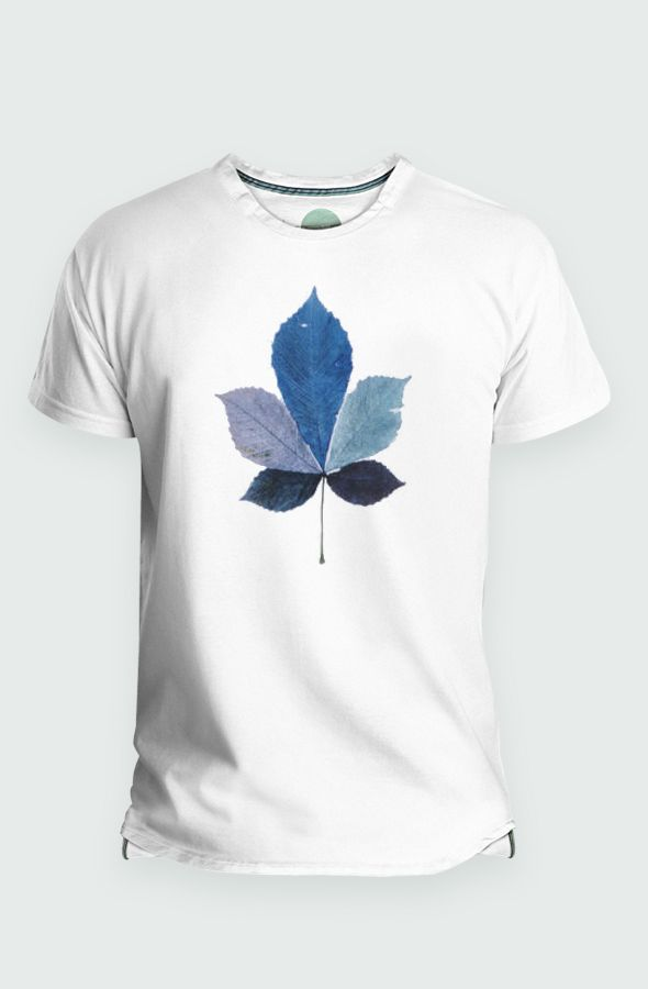 Camiseta Coulored Leaf Hombre Detalle