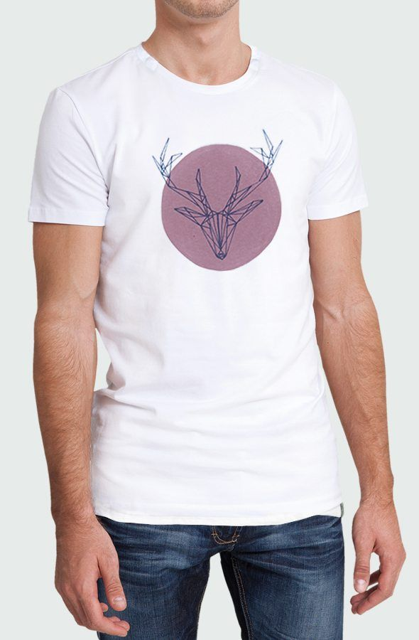 Camiseta Deer Pink Hombre Modelo