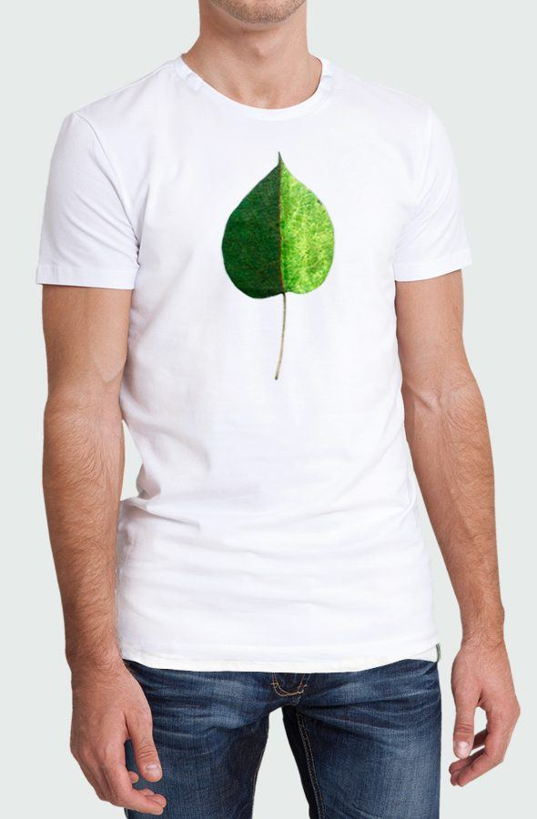 Camiseta Hombre Green Coulored Leaf Modelo