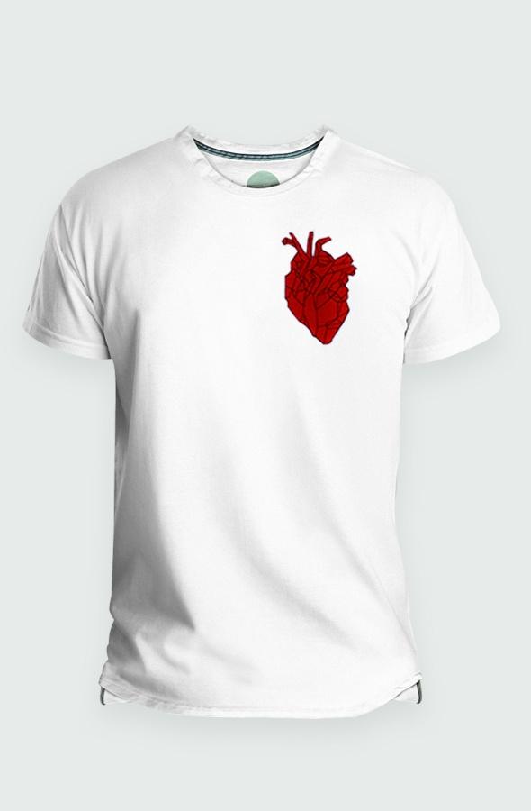 Camiseta Hombre Heart Beating Detalle