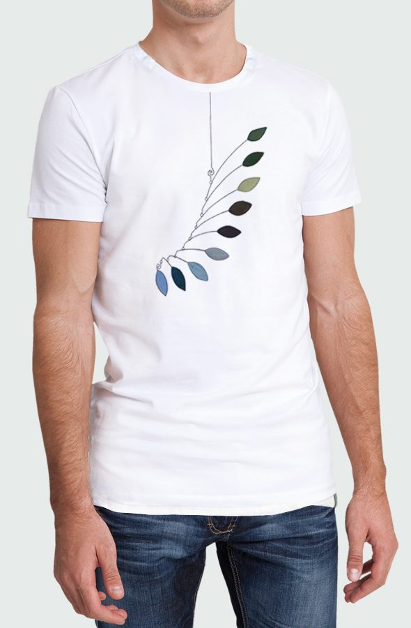 Camiseta Hombre Mobile Leaves Modelo