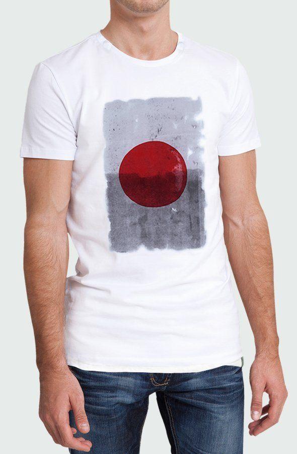 Camiseta Hombre Japan Red Dot Modelo