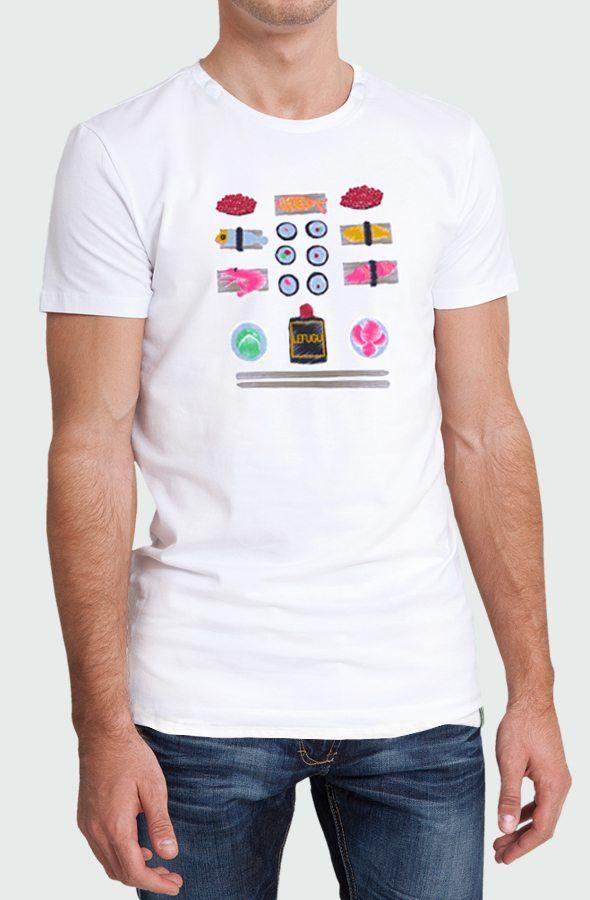 Camiseta Hombre Sushi Modelo