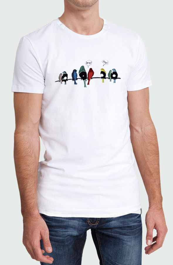 Camiseta Hombre Vynil Birds Modelo