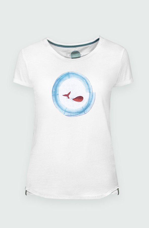 Women's T-shirt Baleia detail