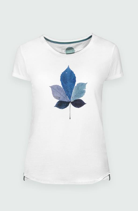 Women's T-shirt Coulored Leaf detail