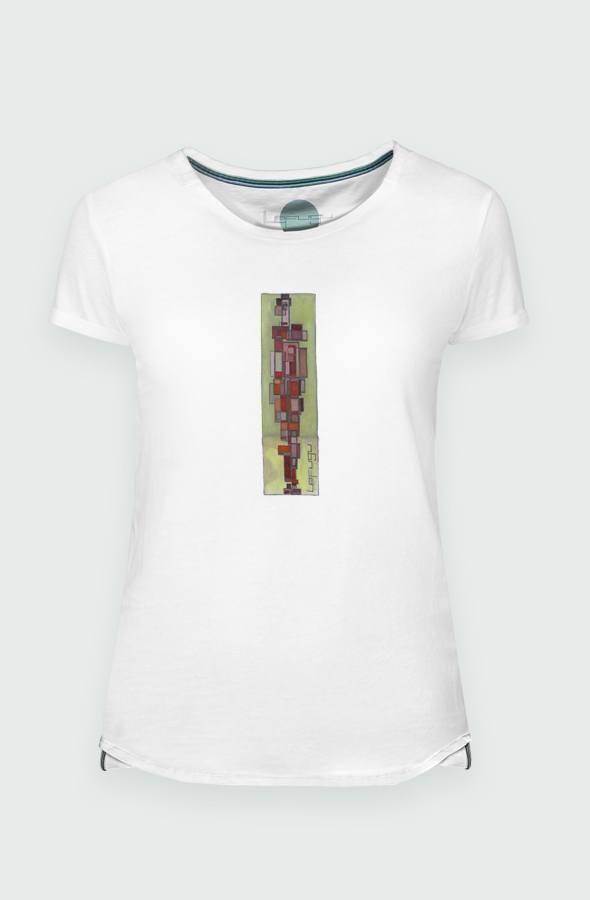 Camiseta Mujer Cubism Detalle