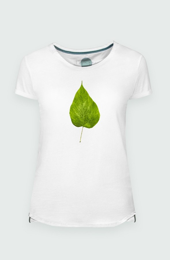 Women T-shirt Fluor Leaf Detail