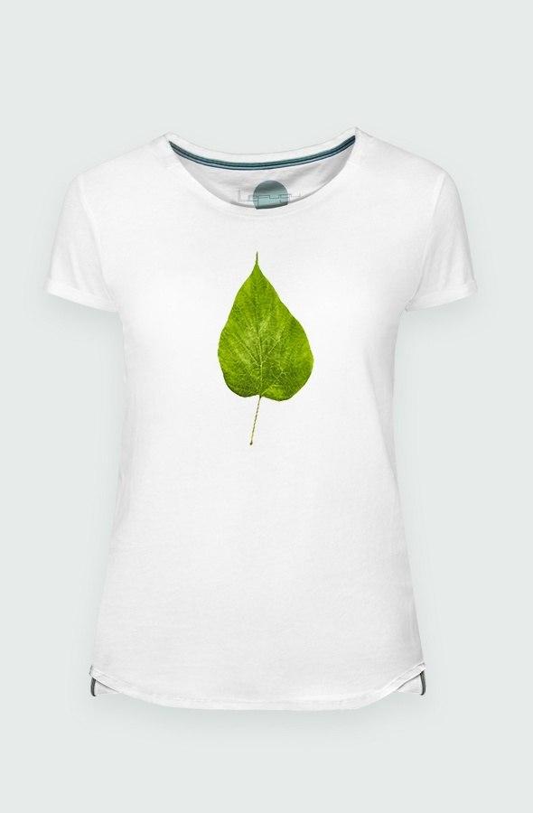 Camiseta Mujer Flour Leaf Detalle