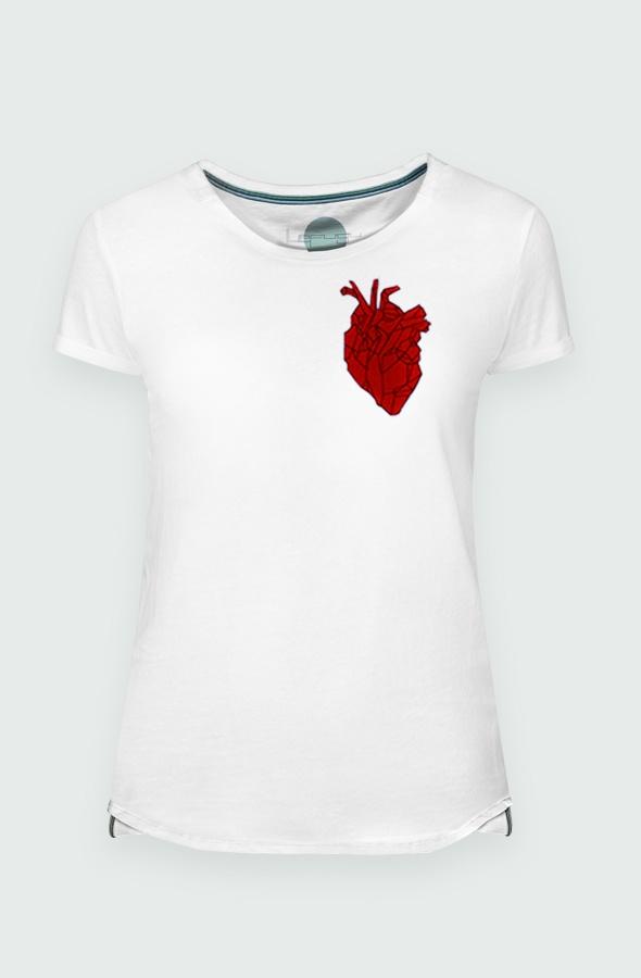 Camiseta Mujer Heart Beating Detalle