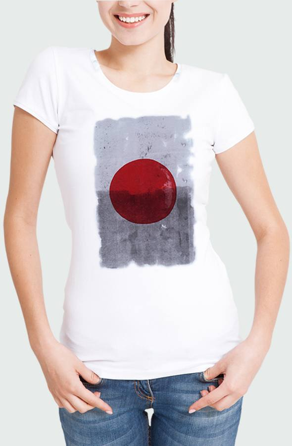 Camiseta Mujer Japan Red Dot Modelo