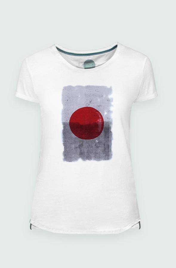 Women's T-shirt Japan Red Dot detail