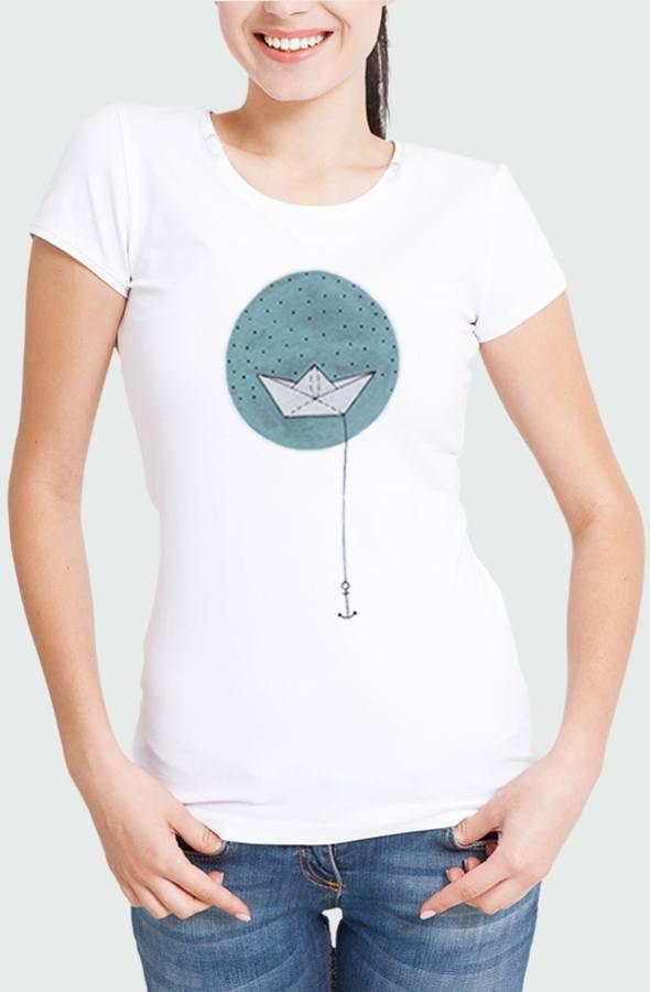 Camiseta Mujer Paper Boat Modelo