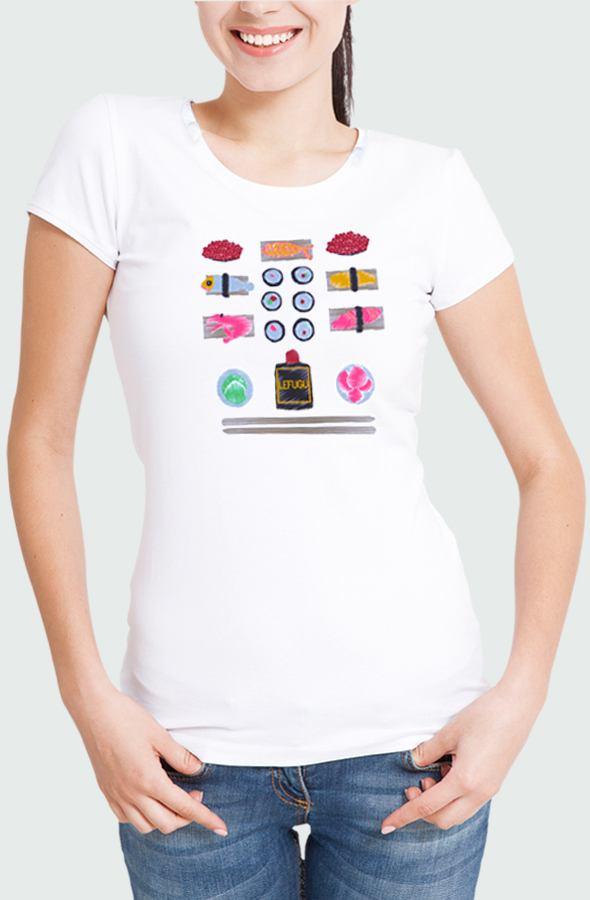 Camiseta Mujer Sushi Modelo