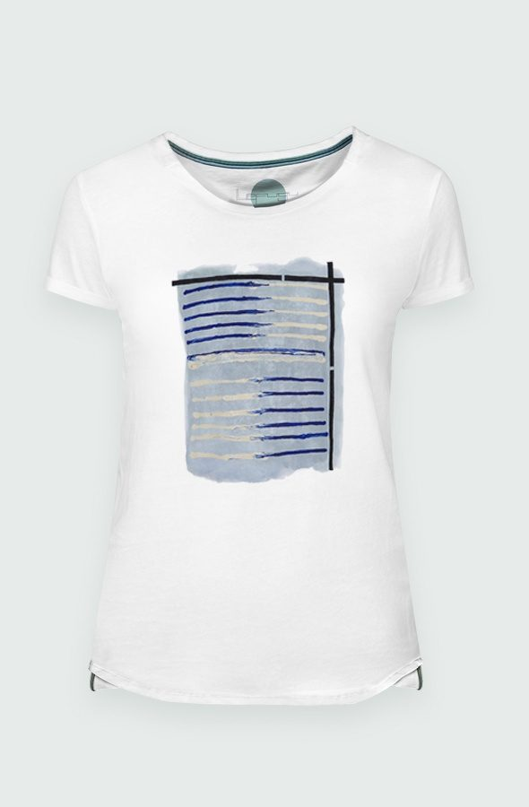 Women T-shirt Tela Marinera Detail