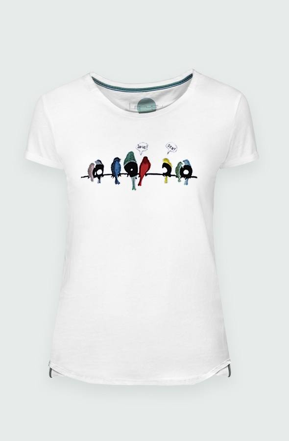 Women's T-shirt Vynil Birds detail