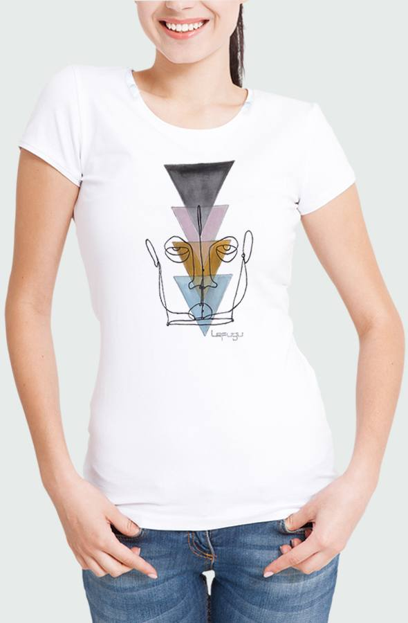 Wired Face Women's T-shirt Model