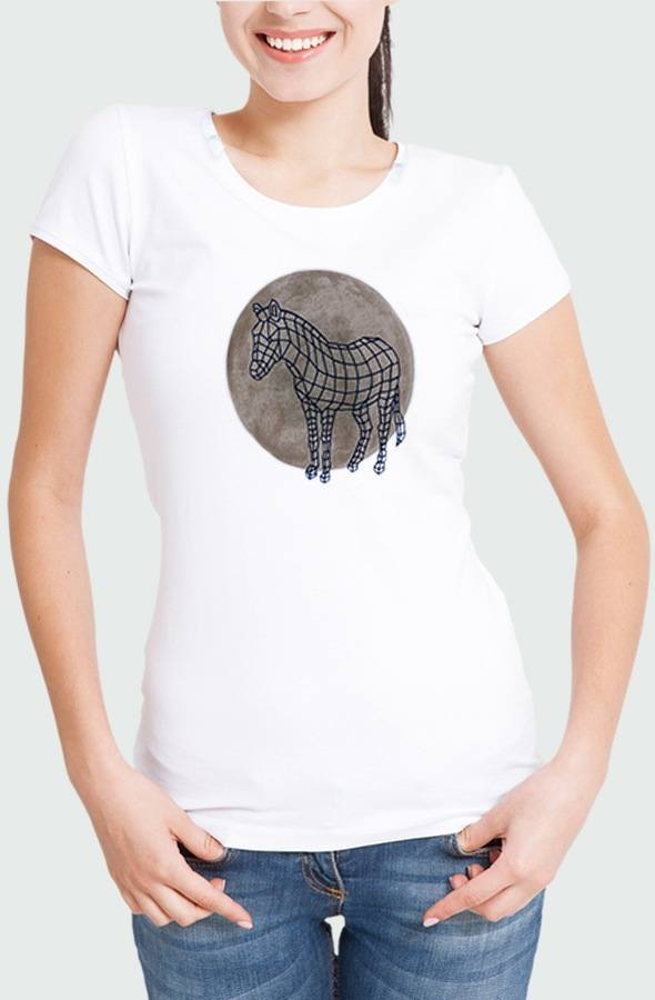 Women T-shirt Zebra Dot Model