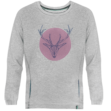 Swearshirt Deer Pink - Lefugu