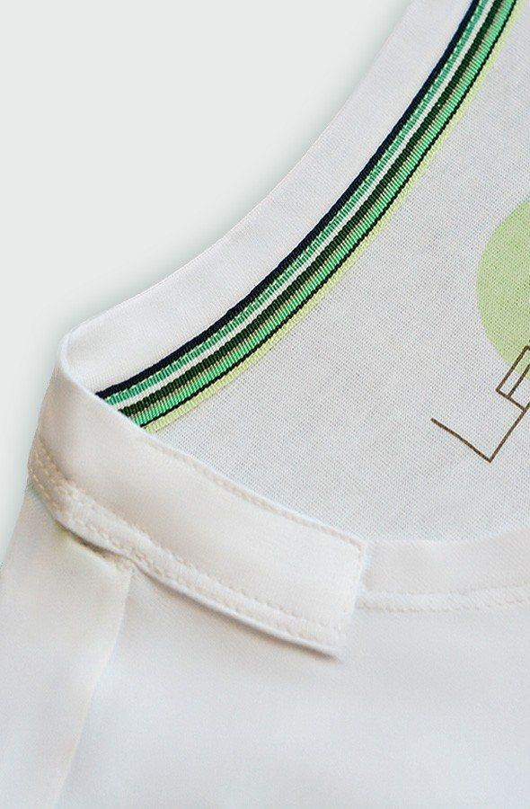 T-shirt collar Detail Lefugu