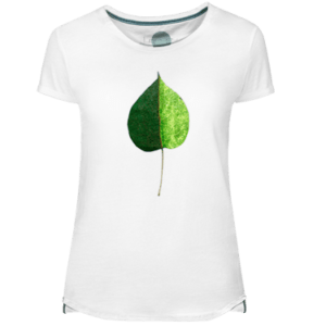 Camiseta Mujer Green Coulored Leaf - Lefugu