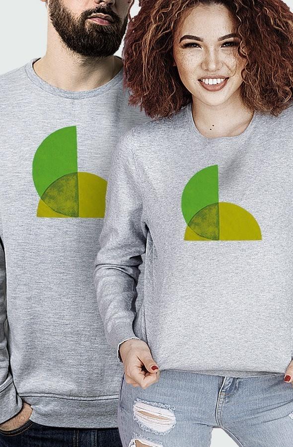 Sudadera Unisex Green Split Modelo