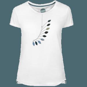 Camiseta Mujer Mobile Leaves - Lefugu
