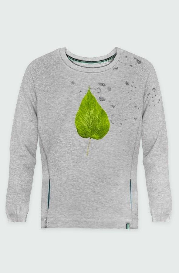 sudadera unisex devore flour leaf detalle