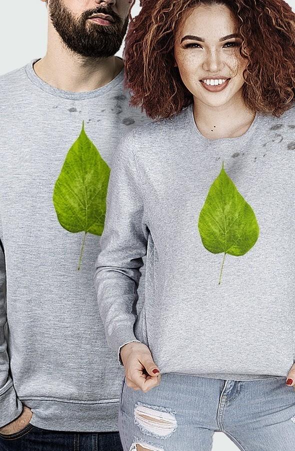 sudadera unisex devore flour leaf modelo