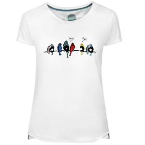 Vynil Birds Women's T-shirt - Lefugu