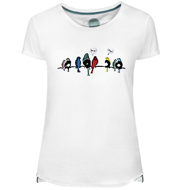 Vynil Birds Women's T-shirt - Lefugu
