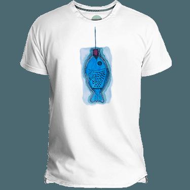 Camiseta hombre Blau Fish - Lefugu