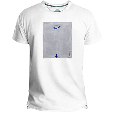 Blue Teardrop Men's T-shirt image