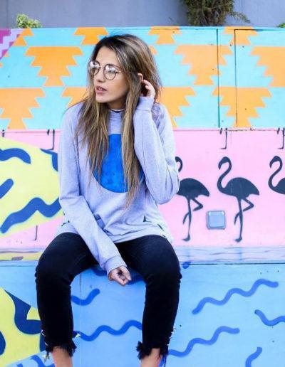 Fuger with Blue Dot sweatshirt