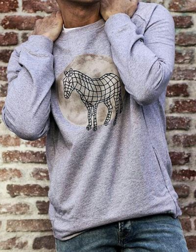 Fuger with Zebra Dot sweatshirt