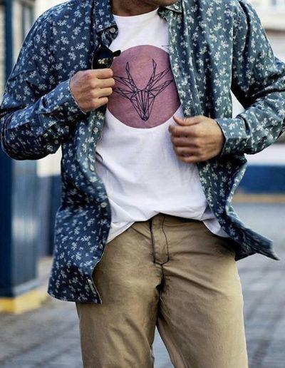 Fuger with Deer Pink T-shirt
