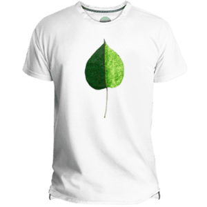 Green Coloured Leaf Men's T-shirt image