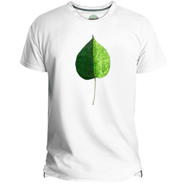 Camiseta hombre green-coloured leaf - Lefugu