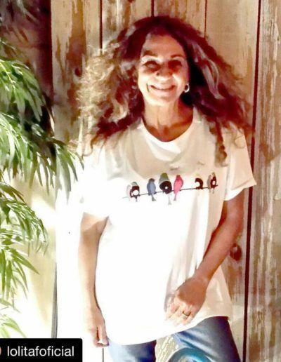 Lolita with Vinyl Birds t-shirt