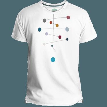 Camiseta Hombre Mobile Dots - Lefugu