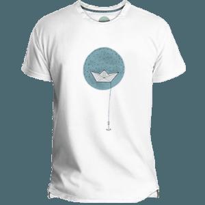 Camiseta Hombre Paper Boat - Lefugu