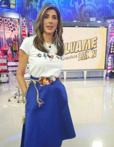 Paz Padilla with Vinyl Birds t-shirt