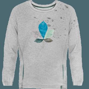 Sweatshirt unisex devore coloured leaf