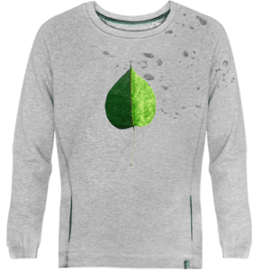 Green Coloured Leaf Devoré Sweatshirt Image