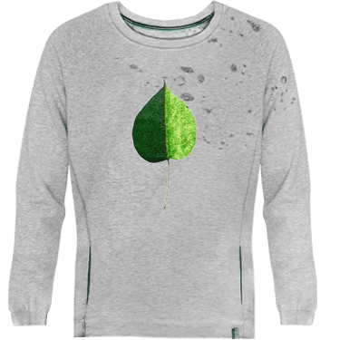 Sudadera unisex devore green coloured leaf