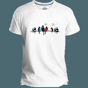 Camiseta Hombres Vynil Birds - Lefugu